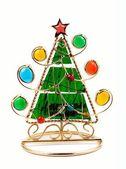 Christmas tree. candlestick — Stock Photo
