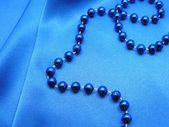 Blue beads. — Stock Photo
