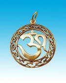 Gold amulet — Stock Photo