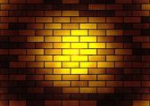 Brick luminous texture — Stock Photo
