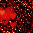 Red Valentine's day background — Stock Photo