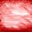 Red frame with hearts — Stockfoto