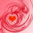 Red Valentine's day background — Stok fotoğraf