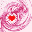 Pink Valentine's day background — Stok fotoğraf