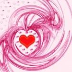 Pink Valentine's day background — Stock Photo