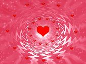 Valentine's day background with hearts — Stock Photo