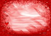 Red frame with hearts — Stock Photo