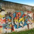 Stock Photo: Graffiti painting wall