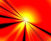 Orange abstract sun with rays — Stock Photo