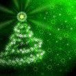 Christmas tree . Green magic light — Stock Photo