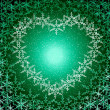Christmas love green frame — Stock Photo