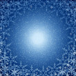 Christmas blue snow frame — Stock Photo