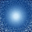 Stock Photo: Christmas blue snow frame