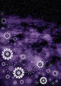 Boże narodzenie fioletowy ramki — Zdjęcie stockowe