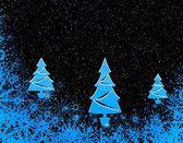 Blå julgranar — Stockfoto