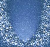 Boże narodzenie niebieski rama magia — Zdjęcie stockowe