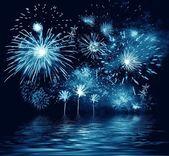 Night firework — Stock Photo