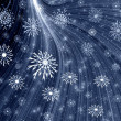 Grey background with snowflakes — Stock Photo