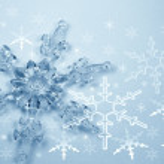 Crystal snowflake — Stock Photo
