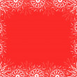 Christmas red frame — Stock Photo