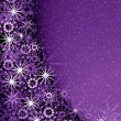 Christmas violet magic frame — Stock Photo