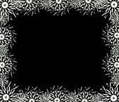 Christmas black frame — Stock Photo