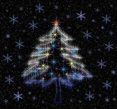 Light of Christmas tree — Stock Photo