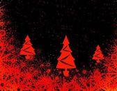 Boże narodzenie czerwony drzew — Zdjęcie stockowe