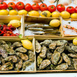 Sea food in open air market, Bruxelles — Stock Photo