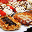 Belgian : baking - tasty waffles — Stock Photo