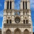 Notre Dame Cathedral, a gothic catholic cathedral , france, Paris — Stock Photo