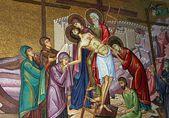 Reisen sie zu den heiligen boden. mosaik — Stockfoto