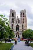 Cathedral view , Brussels, Belgium. — Stock Photo