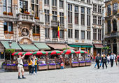 Restaurant view of Grand Place , Brussels, Belgium. — Stock Photo