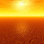 Sunset. Desert — Stock Photo