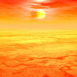 Stock Photo: Yellow sunset