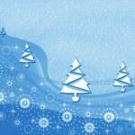 Christmas blue pattern — Stock Photo
