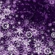 Purple Christmas pattern with snowflakes — Stock Photo