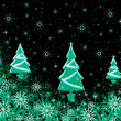 Foto Stock: Christmas texture with fur-trees