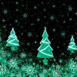 Stock Photo: Christmas texture with fur-trees