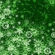 Green Christmas pattern — 图库照片