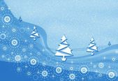 Christmas blue pattern — Stock Photo
