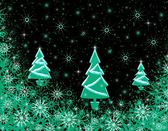 Christmas texture with fur-trees — Stock Photo