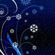Christmas blue pattern — 图库照片