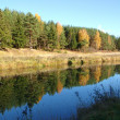 Autumn landscape. River — Stock Photo