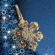 Golden snowflake — Photo
