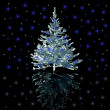 Silver Christmas-tree — Stock Photo