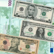 American dollars and euro — Stock Photo