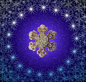 Golden snowflake — Stock Photo