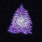 Fantasia de Natal com árvore de Natal — Fotografia Stock